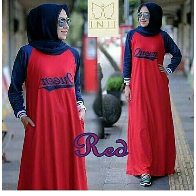 Gamis Sporty Queen-Red