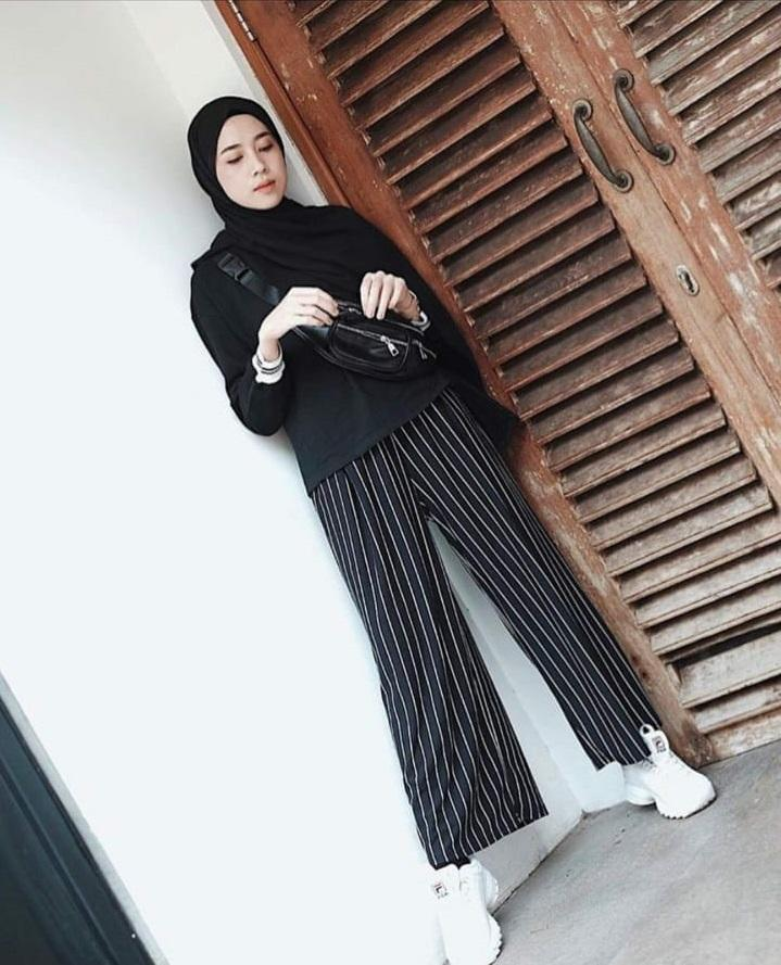 Review City Stripe Pants Kulot Panjang Salur Celana Zara Norway Dan