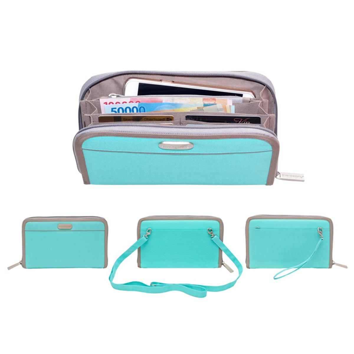 Promo D Renbellony Smartphone Organizer Turquoise Green Dompet Hp Dompet Wanita Handphone Pouch Organizer Murah
