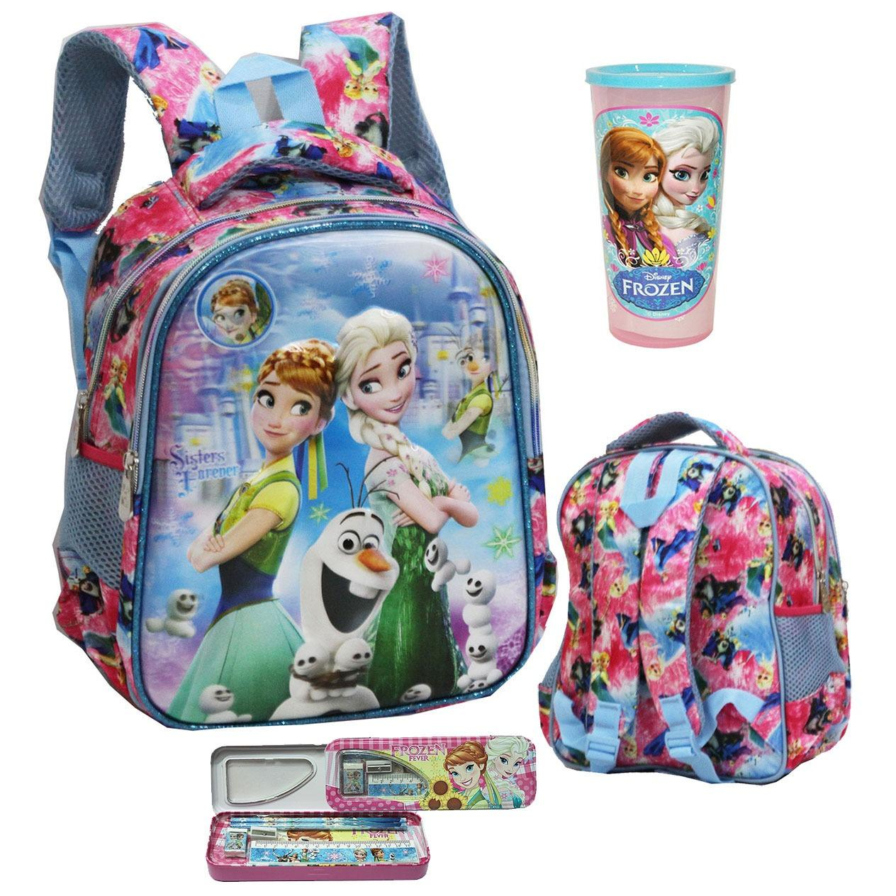 Beli Onlan Disney Frozen Fever 5D Timbul Hologram Tas Ransel Tk Kualitas Bagus Kotak Pensil Gelas Minum Anak Pink Seken