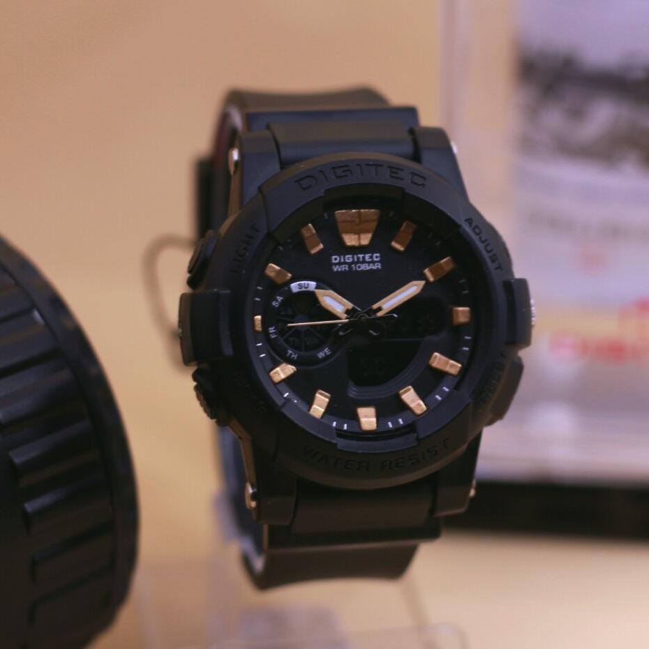 Digitec - Jam tangan Anak2 Atau Jam tangan Wanita - Dual time - Rubber strap