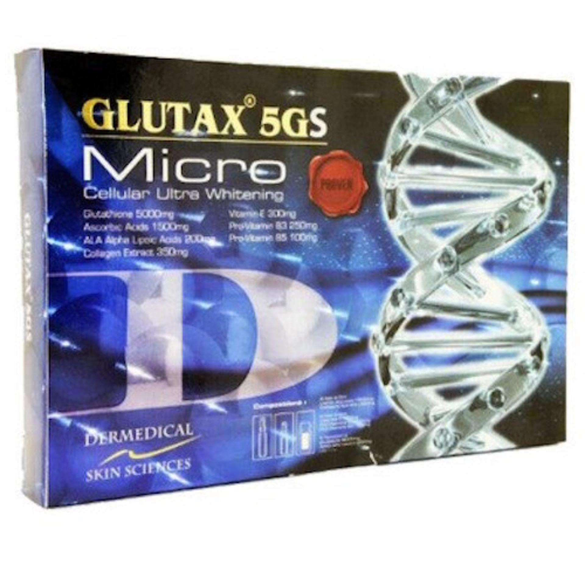 Model Glutax 5Gs Micro Cellular Ultra Whitening 1 Pack Terbaru
