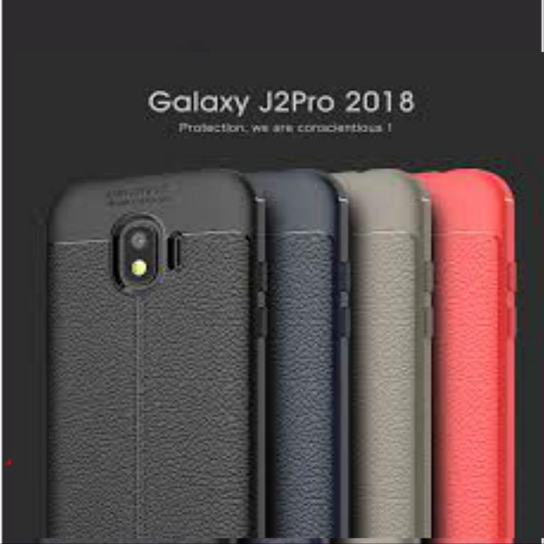 Autofocus Case For SAMSUNG GALAXY J2 PRO 2018 Back Cover Luxury Silicone Leather Look TPU SOFT