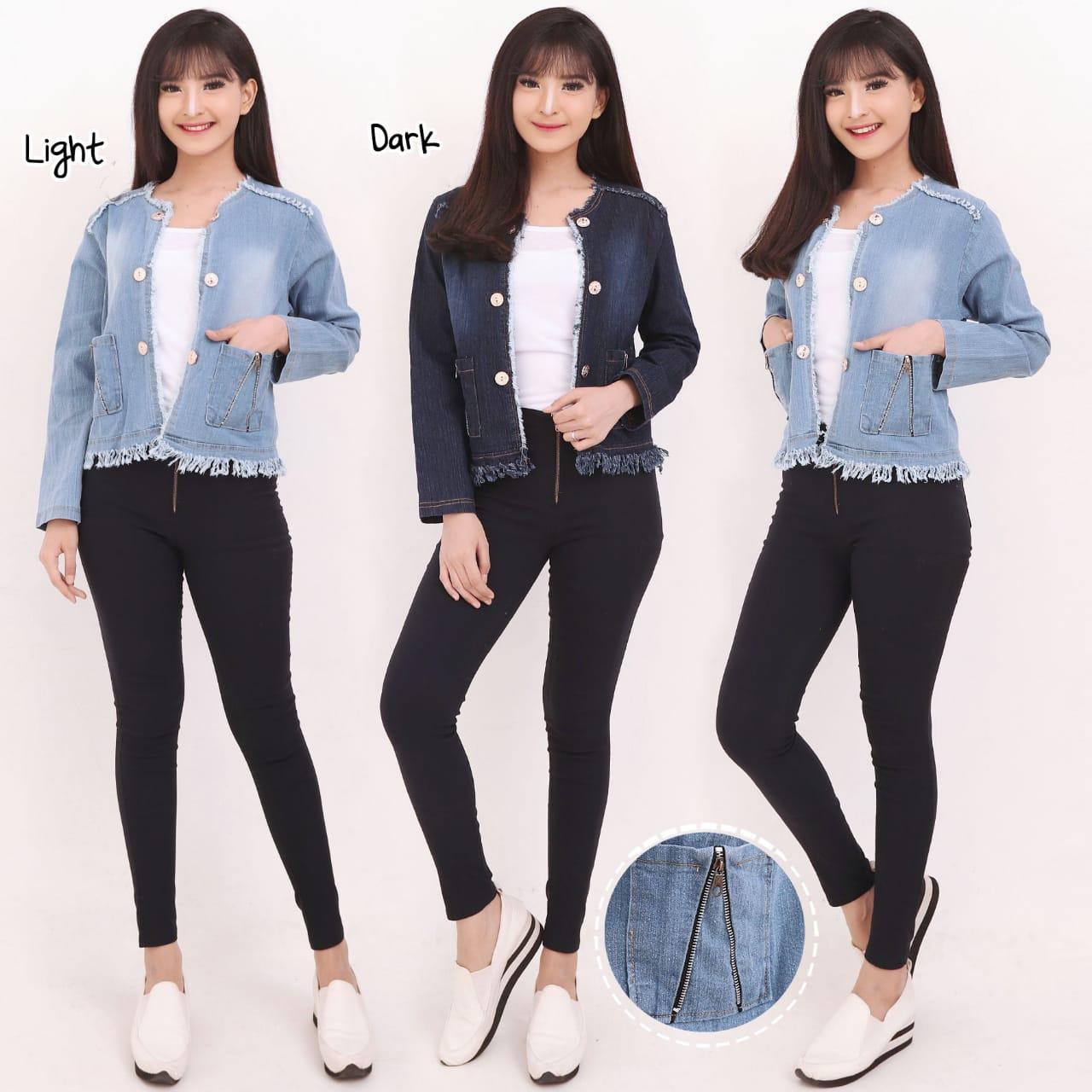 Miracle Atasan Blouse Armia Jaket Outer Casual Jeans Wanita