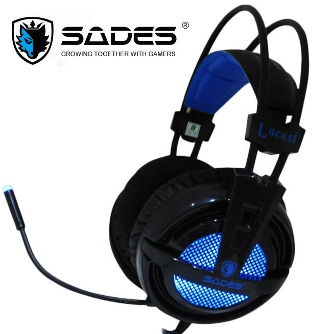 Ulasan Sades Headset Gaming Locust Sa 704 Usb 2 Soundcard And Microphone Biru