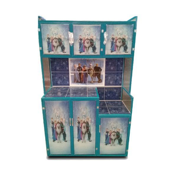 Rak Piring Aluminium Magic Com 3 Pintu Frozen - Full Gambar