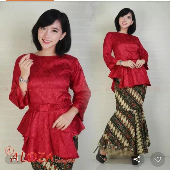 Fitur Setelan Kebaya Modern Atasan Rok Duyung Fashion Wanita Batik