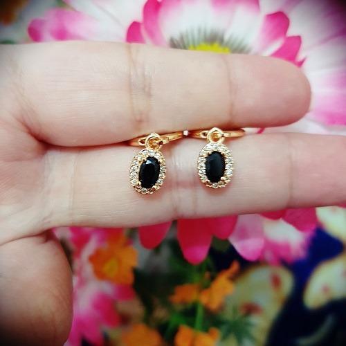 anting gantung hitam gold xuping cantik