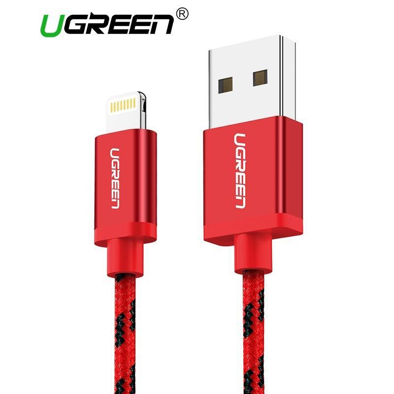 Toko Metal Alloy Usb Petir Kabel Usb Charger Cable Nilon Bradied Desain Untuk I Phone 4 5 6 7 I Pad Merah 5 M Intl Ugreen