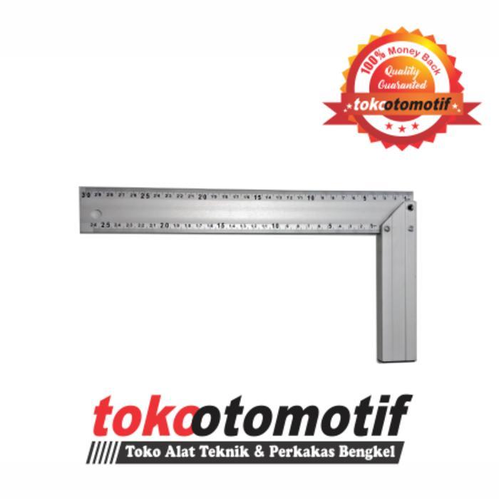 Detail Gambar Penggaris Siku Alumunium 30cm 12 inch Toho Terbaru .