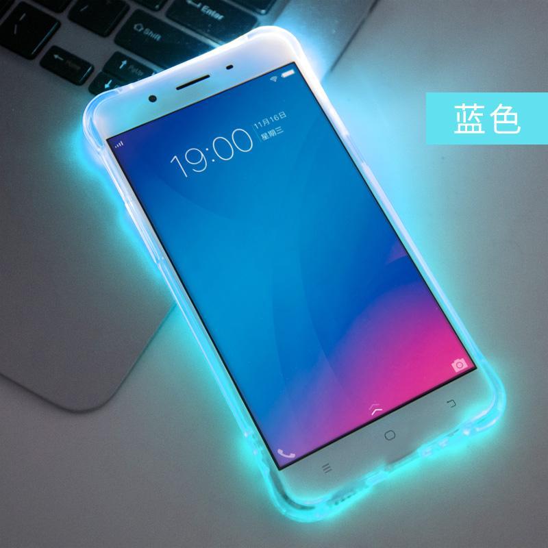 Vivoy51 Casing HP Lampu Menyala Panggilan Masuk y51A Casing Silikon anti jatuh Casing Transparan y51 Silikon