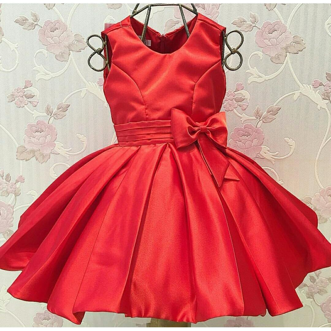 Obral Mj Dress Anak Arcia Kids Merah Murah