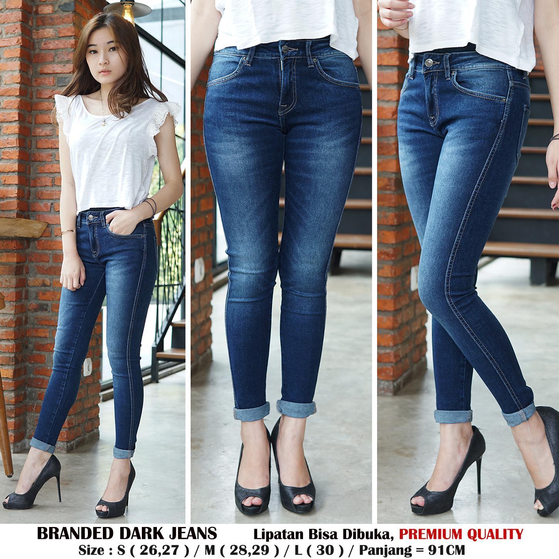 Detail Gambar Rumah Jeans / Celana Jeans Wanita / Branded Dark Jeans / Skinny Jeans Stretch
