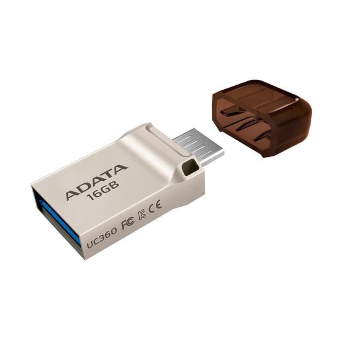 ADATA UC360 - Flashdisk USB OTG Micro USB Flashdrive OTG Mikro USB - 16GB Silver Lifetime - 3