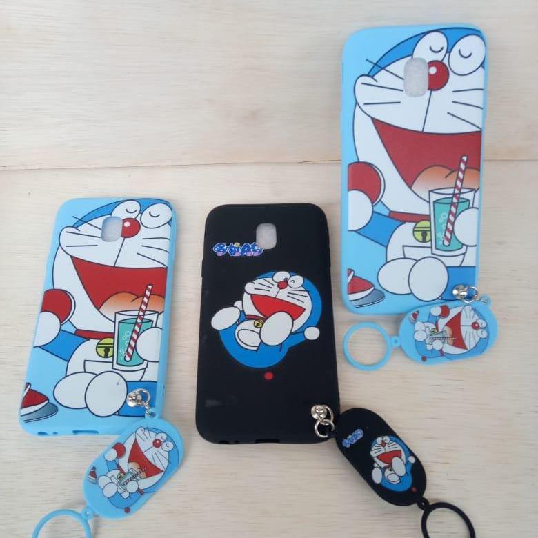 Samsung J7 Pro / J730 Softcase Karakter Kartun Doraemon / Hellokitty - Free Gantungan Lucu