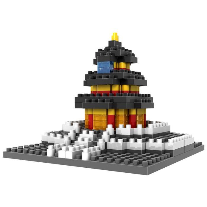 Architecture Temple of Heaven - Original Lego LOZ Diamond Block Mainan Edukasi