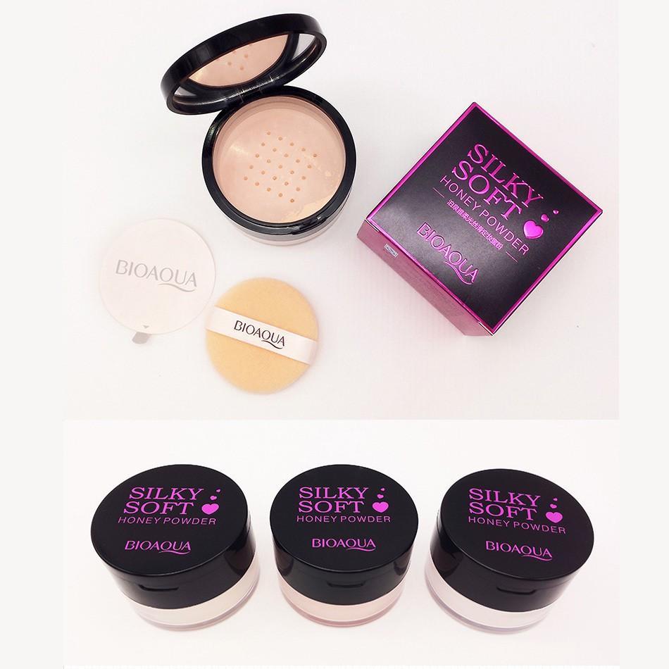 ... Bioaqua Silky Soft Honey Face Powder Bedak Tabur Ekstrak Madu Isi 15gr Original Laz COD Graha