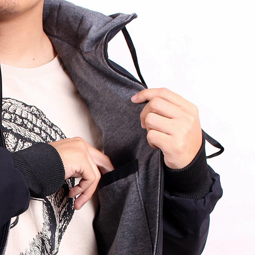 Fitur Sw Jaket Pria Outwear Hoodie Bordir Best Seller Premium Black Grey Quality 4