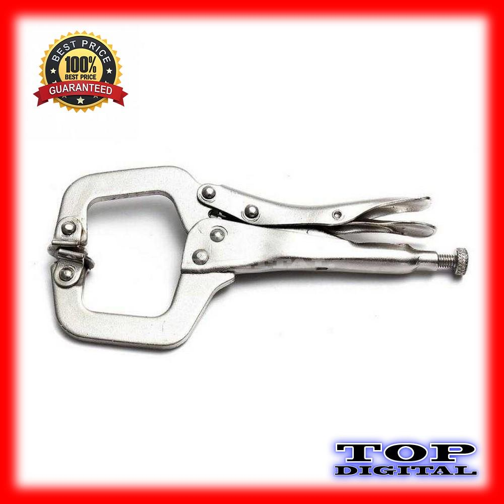 ... Tang Jepit C Clamp Swivel Pad Lock Grip - 4 ...