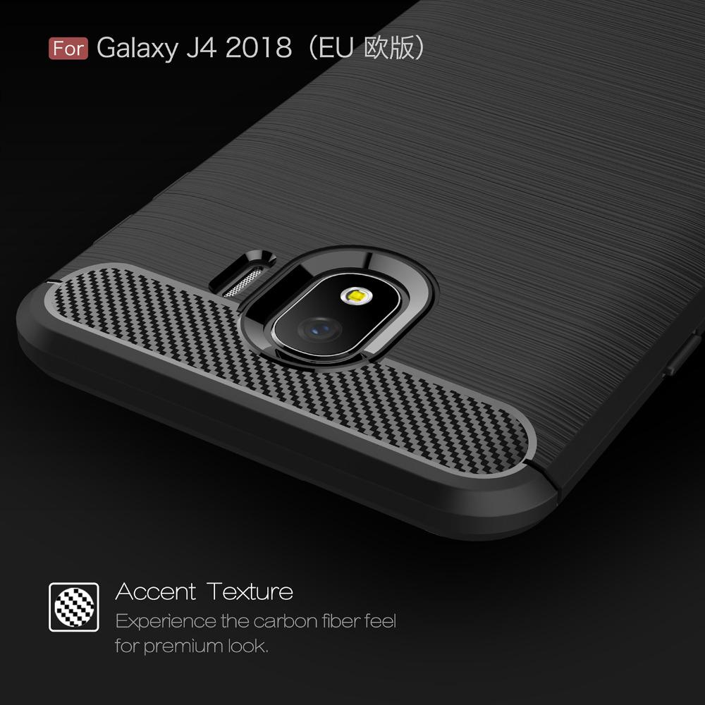 ... Accessories HP Premium Quality Carbon Shockproof Hybrid Case For Samsung Galaxy J4 2018 ( J400 ) ...