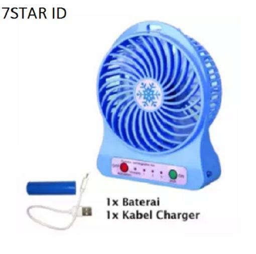 Kipas Angin Mini With USB Charger + Batterai 7STAR - Kipas Mini Fan Portable