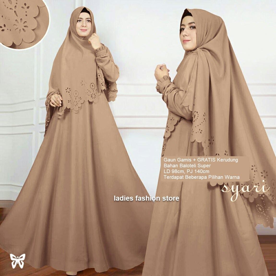 Fitur Gamis Modern Gratis Khimar Dress Syari Panjang Busui Gamis