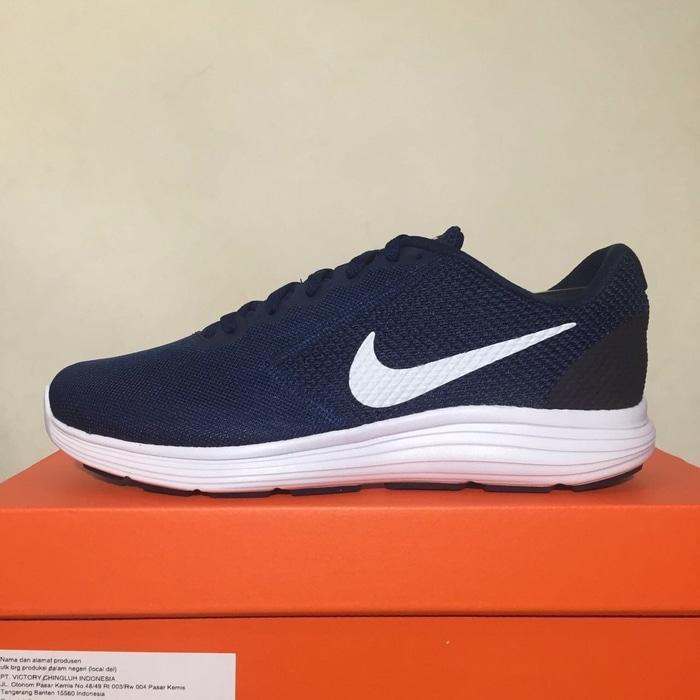 Sepatu Running/Lari Nike Revolution 3 Midnight Navy 819300-406 Ori