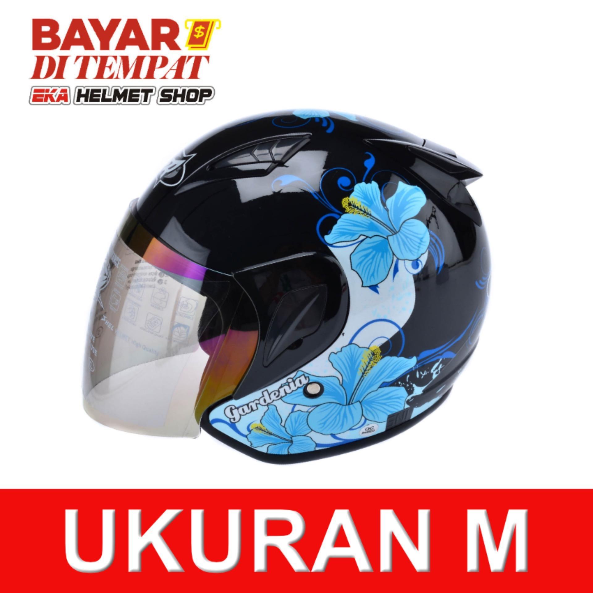Msr Helmet Javelin Gardenia Hitam Biru Banten Diskon 50