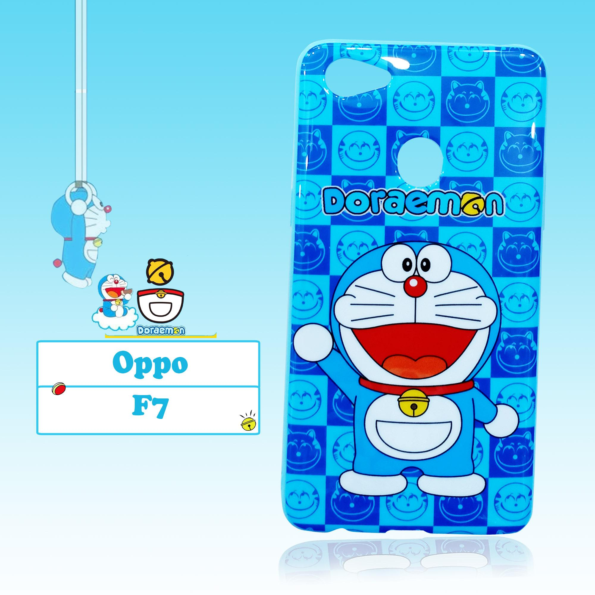 BCS Softcase Doraemon Ceria Phone Case New Oppo F7