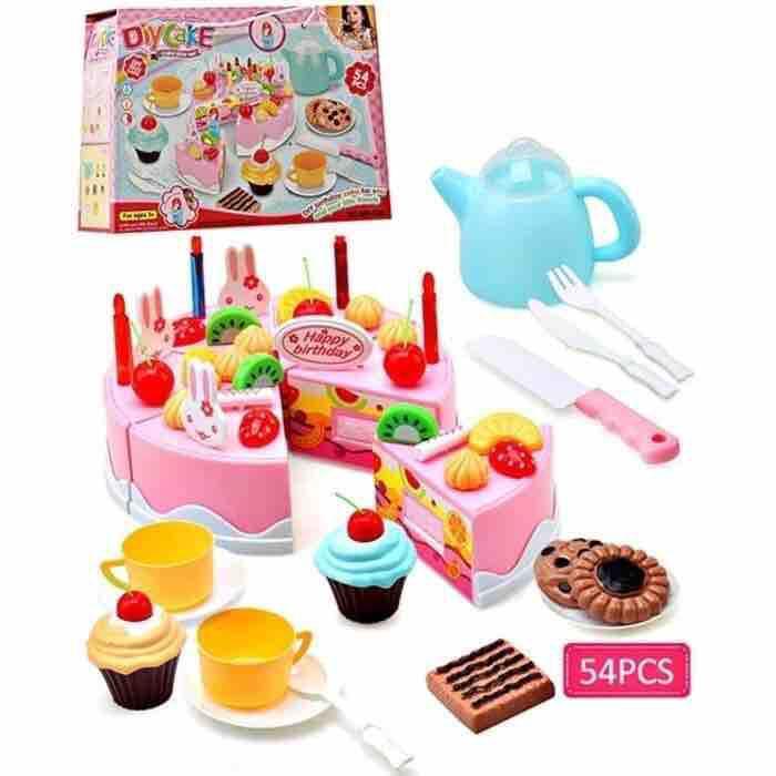 Mainan Edukasi Anak Kue Ulang Tahun - DIY Fruit Cake 54pcs