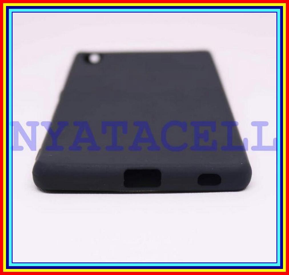 Case Matte Sony Xperia Z4 Soft Black Anti Minyak Softcase Jelly - Hitam - 2 .