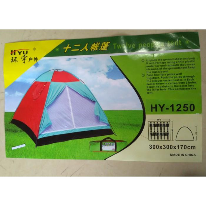 Tenda Dome 10 Orang Hyu 1095 Size 300X300x170 Cm