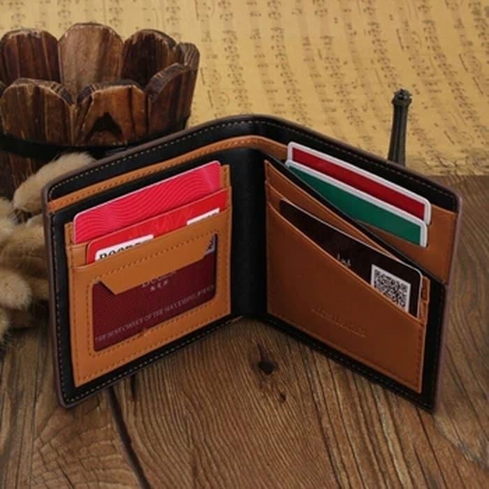 Detail Gambar Dompet pria Bogesi kulit PU lipat pendek - dompet cowok import F20 Terbaru