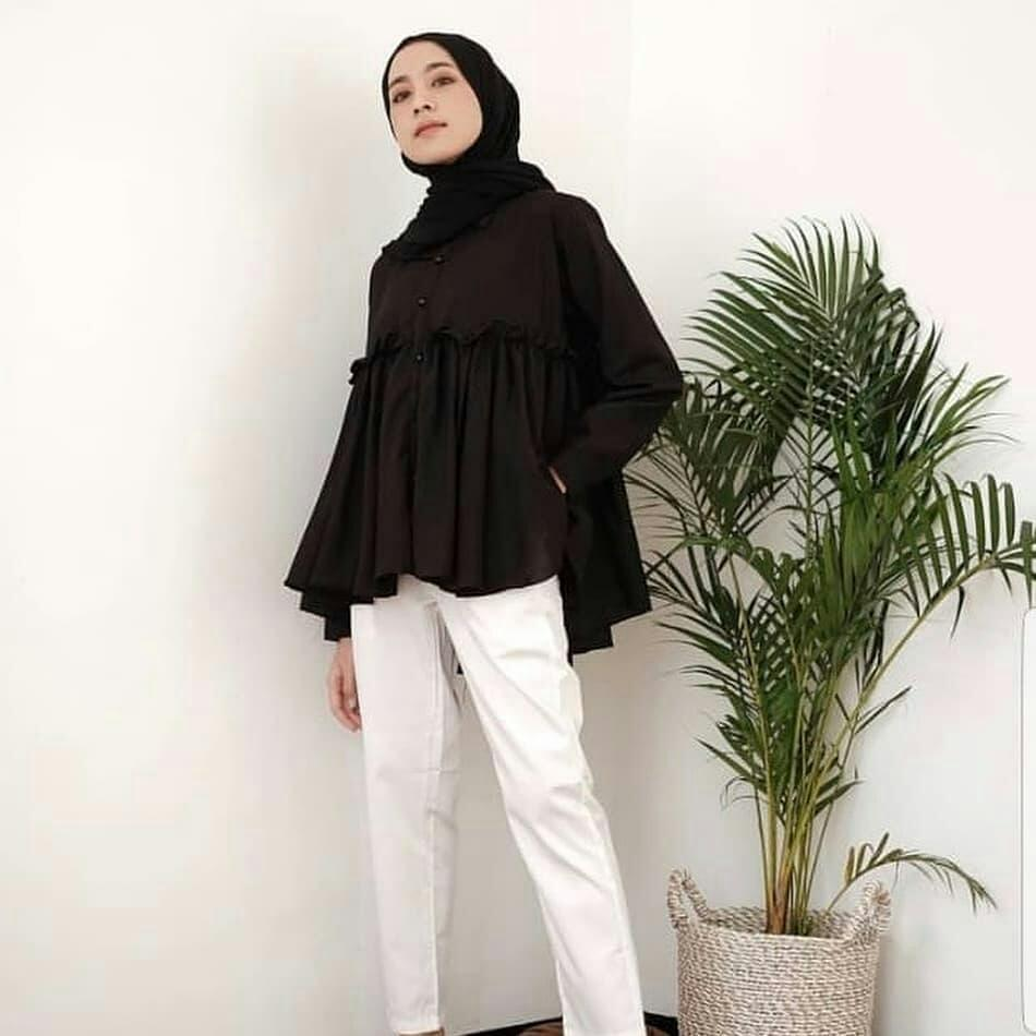 Baju Original Terbaru Fidelle Top Balotely Grosir Atasan Wanita Hijab  Muslim Blouse Panjang Murah Supplier Fashion 23201207d2