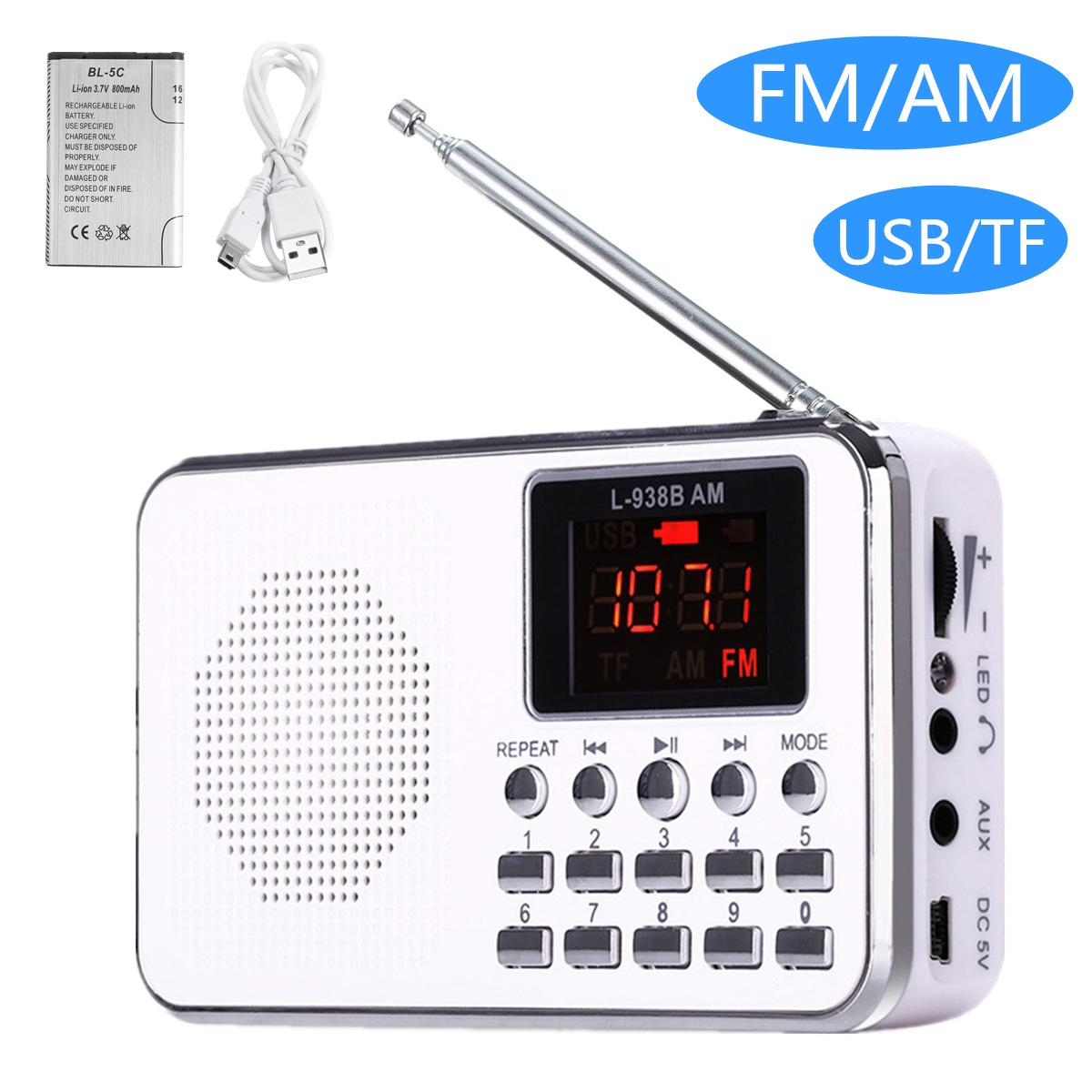Flash Deal?Mini Portable LED Digital Speaker Radio FM USB Micro Sd Tf Card ?