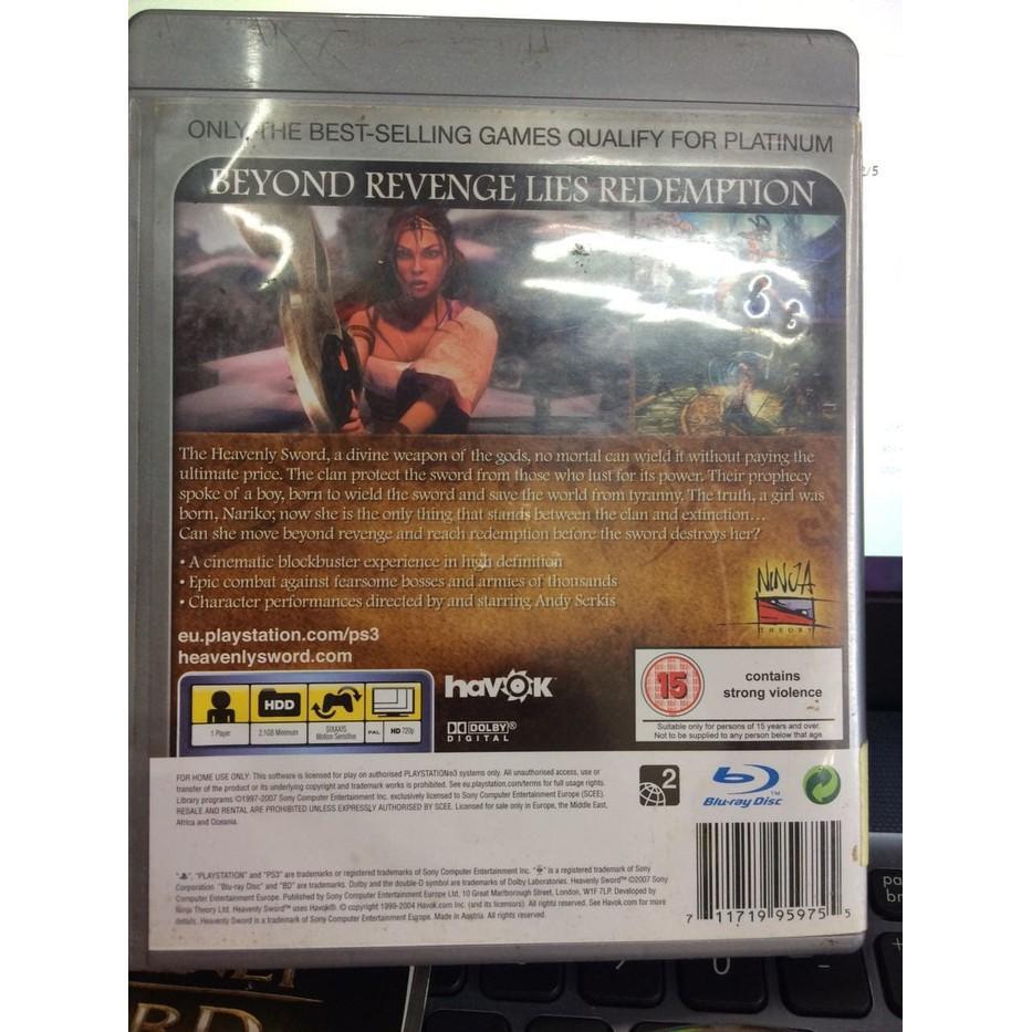 Promo KASET GAME MURAH CD BD DISC ORIGINAL SONY PS3 HEAVENLY SWORD BEKAS Limited