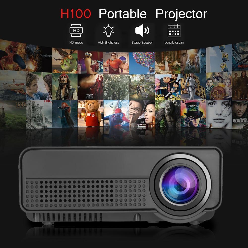 Spesifikasi H100 Led Portable Proyektor Rumah Theater 2000 Lumens 800 X 480 P Mendukung 1080 P Lengkap Dengan Harga