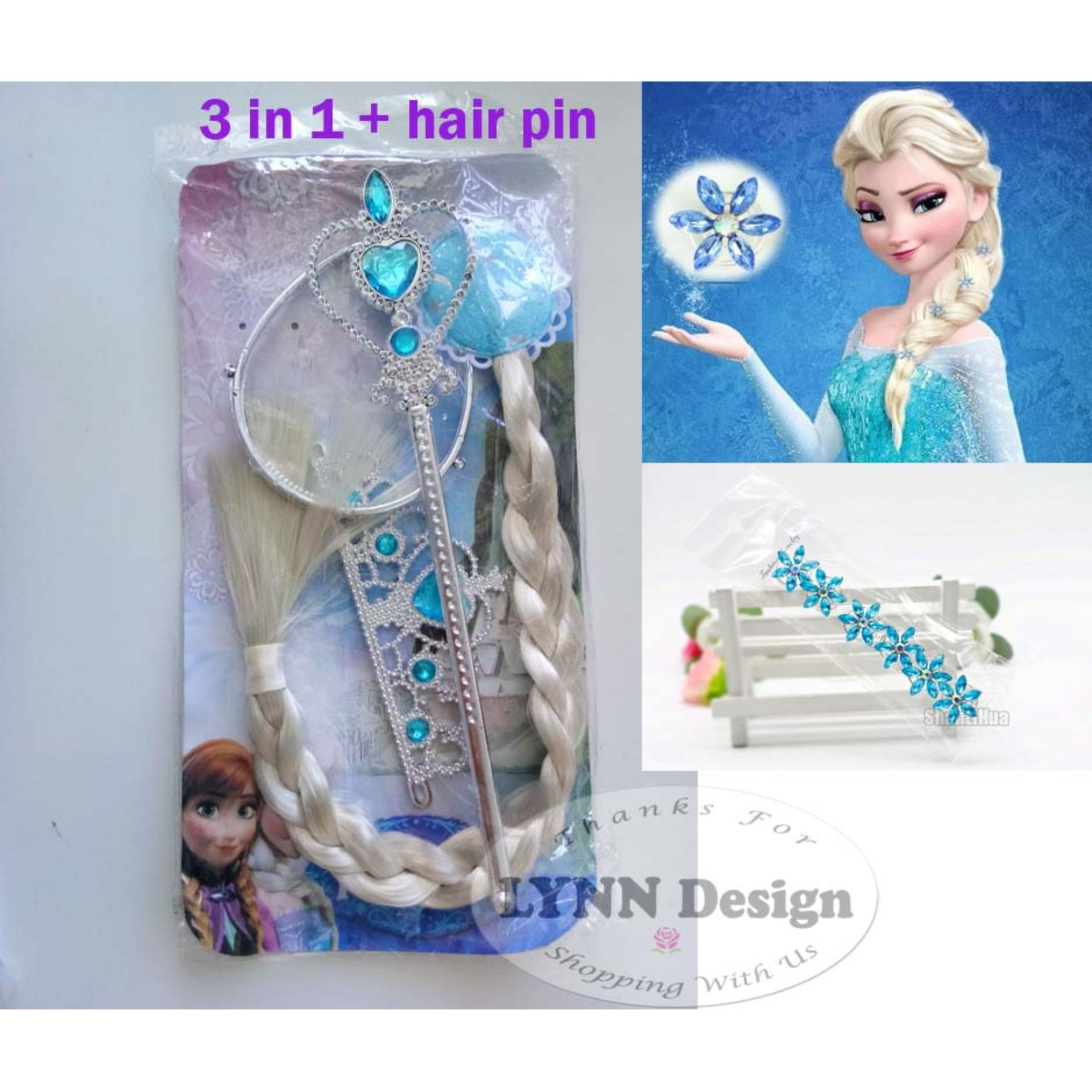 Lynn Design -  Aksesoris Frozen elsa mahkota 3in 1 + hairpin