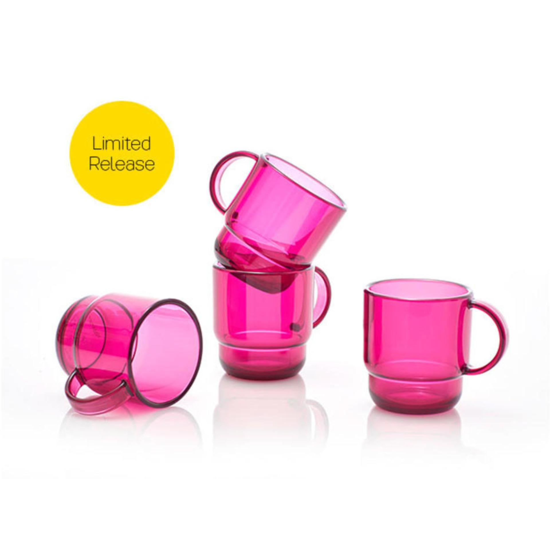 Detail Gambar Tupperware Clear Mug (4pcs) Gelas Cangkir Minum Tempat Minum Botol Minum Anak