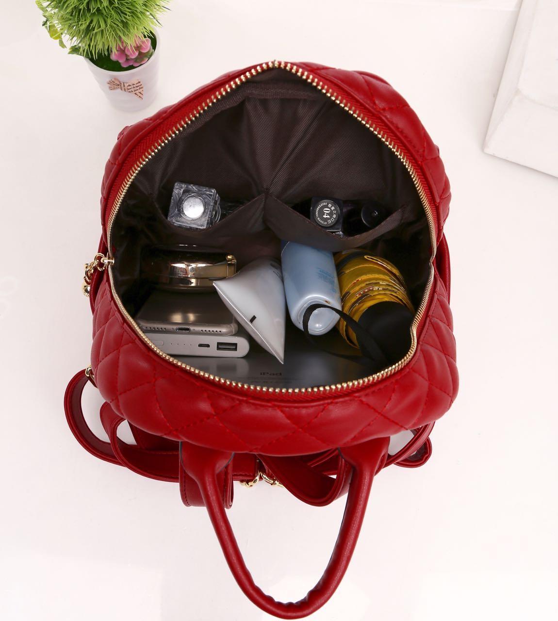 Features Backpack Chanel 527 Tas Import Branded Berkualitas Kulit 2 Fungsi Sling Bag 5