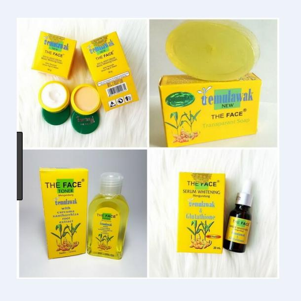 Beli Paket Cream Temulawak The Face Komplit Cream Siang Malam Serum Sabun Plus Toner Paket Pencerah Wajah Lengkap