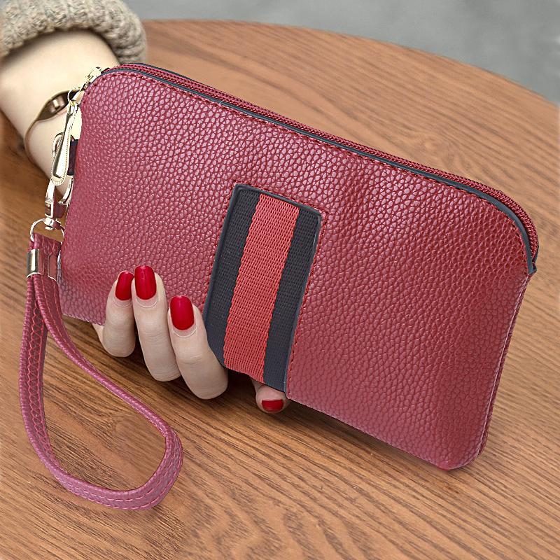 ... 2018 model baru wanita tas kecil Gaya Korea tas wanita casual tas  tangan dompet model panjang f66e37e542