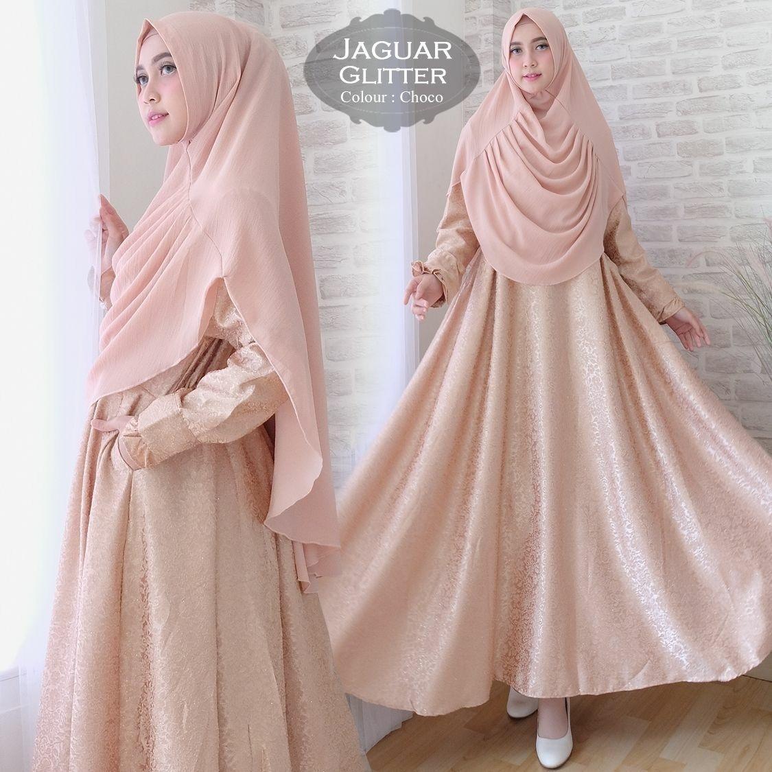 Baju Gamis Muslim Syari Fashionable - Gamis Jaguar Glitter Syari