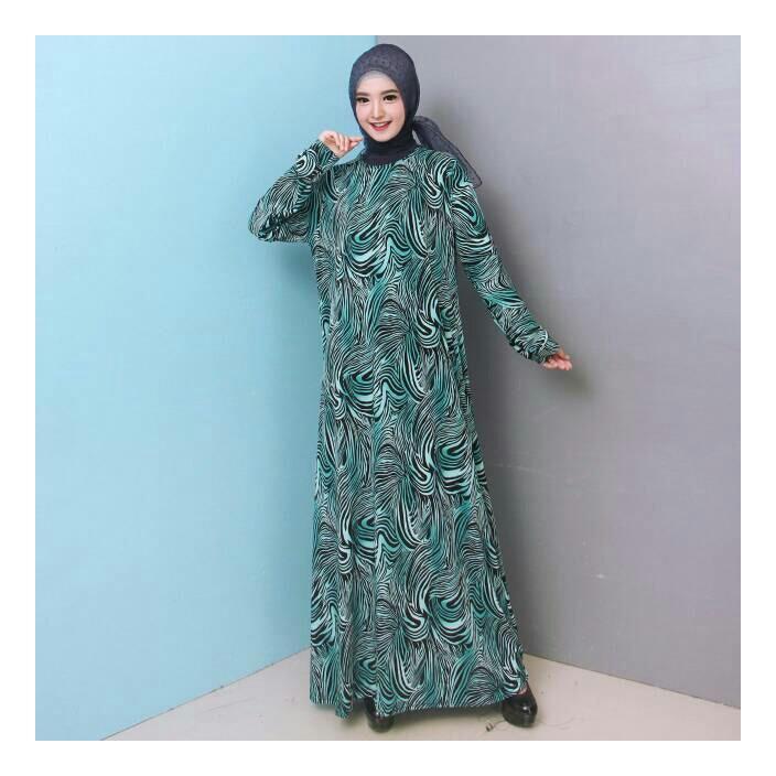 Baju Gamis Wanita Jumbo Bahan Jersey Korea 6732 - New Design