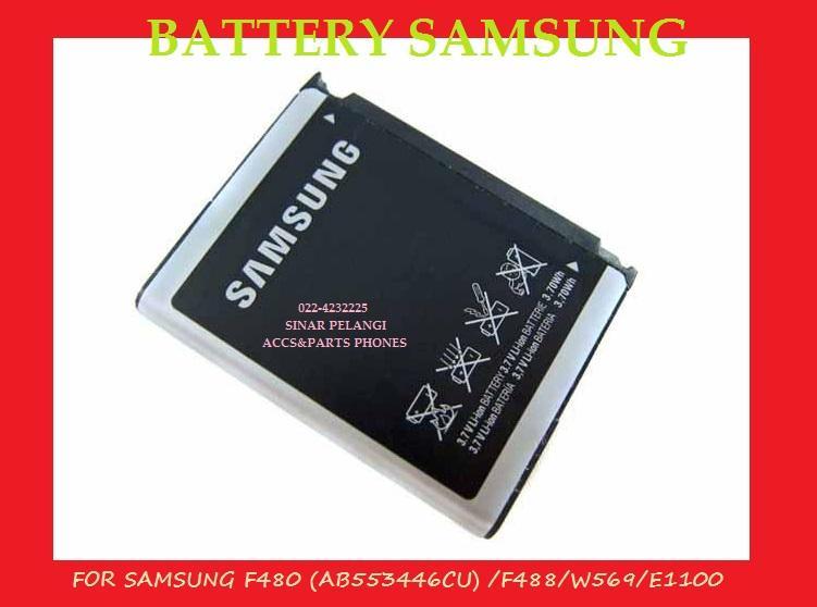 BATRE BATERAI BATTERY SAMSUNG F480 AB553446CU F488/W569 E1100 1000MAH ORI 99% 100205