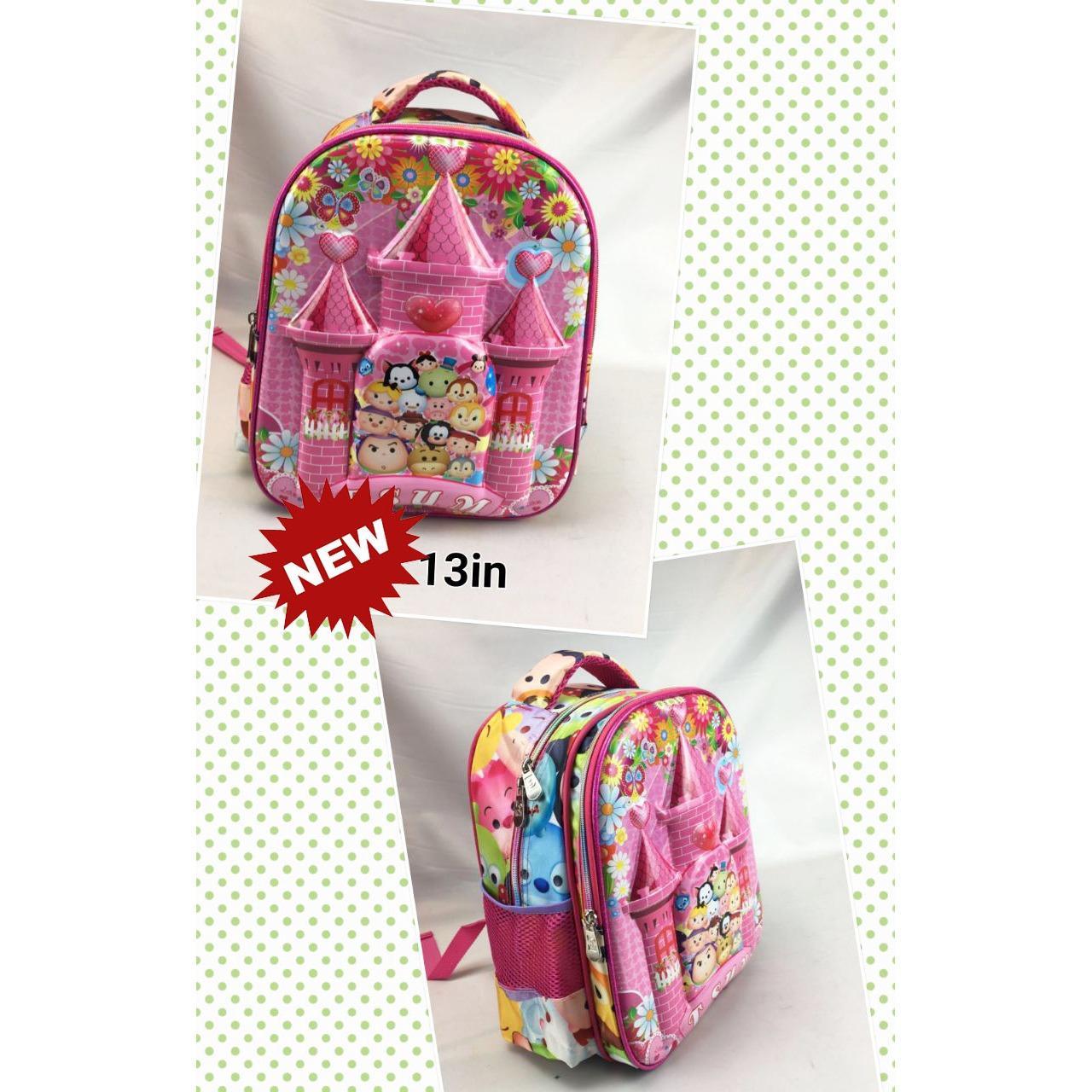 Onlan Tsum Tsum Cantik 6D Timbul Tas Ransel TK Import - Pink