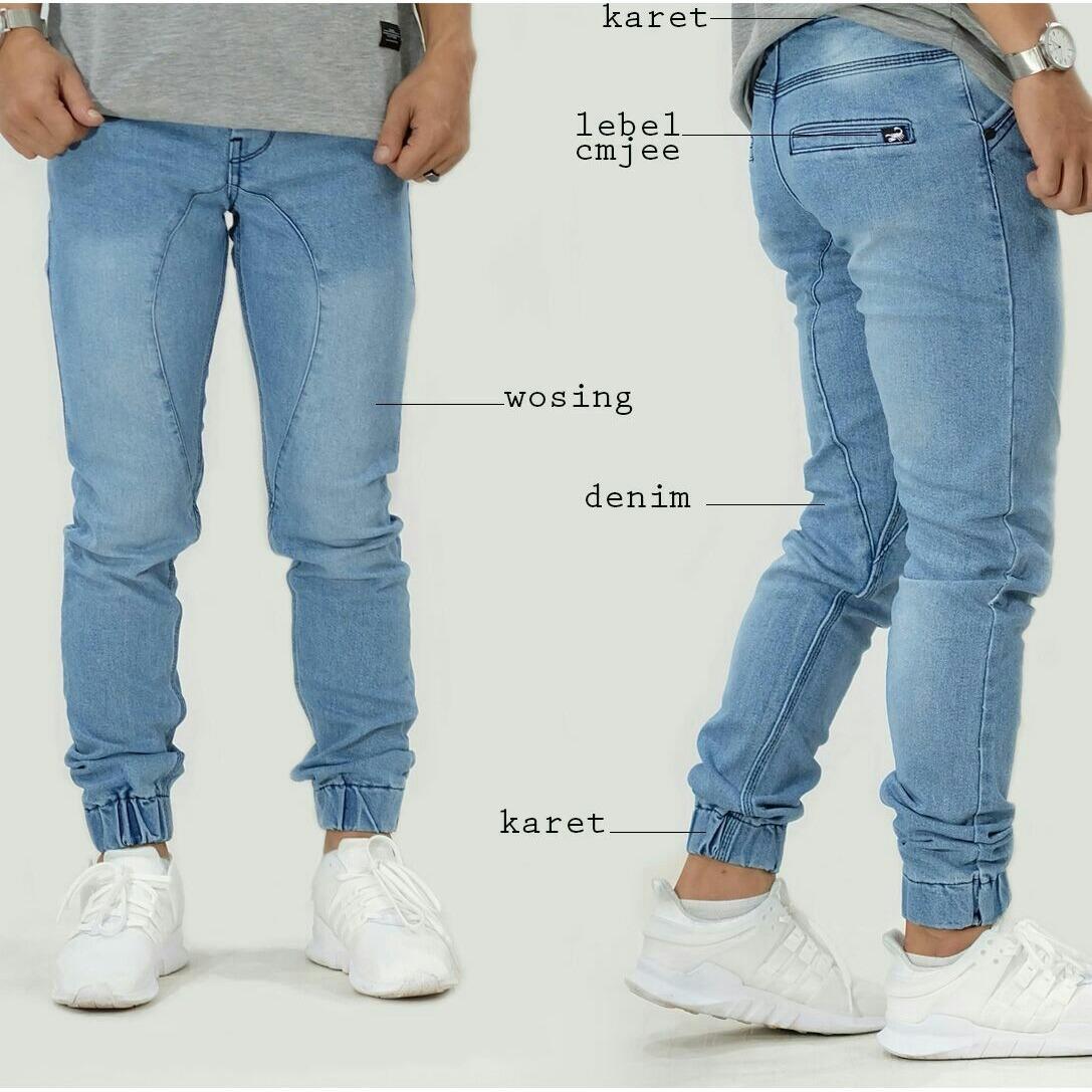 SH Celana joger jeans pria | Celana joger denim pria