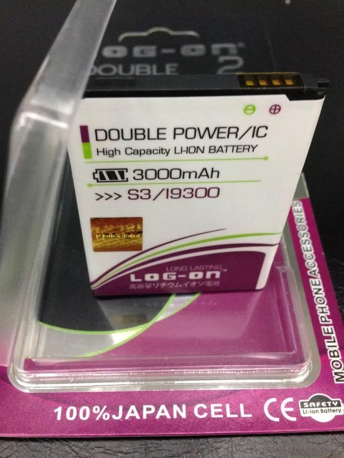 Baterai Battery Batre Samsung Galaxy S3 / i9300 Log on double power