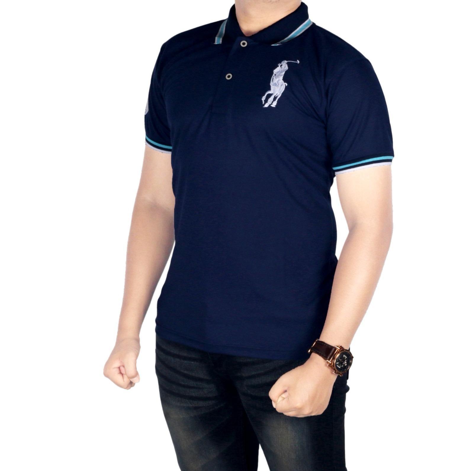 Dgm Fashion1 Poloshirt Pria Polo Kaos Kaos Polo Shirt Polo Kaos Kerah Ip 3908 Navy Dki Jakarta Diskon