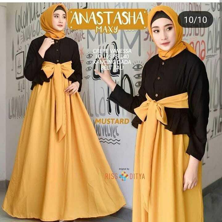 Baju Murah Terbaru Gamis Anastasia Maxy Dress Balotelly Baju Wanita Gamis  Baju Terusan Panjang Baju Kerja 624de80132